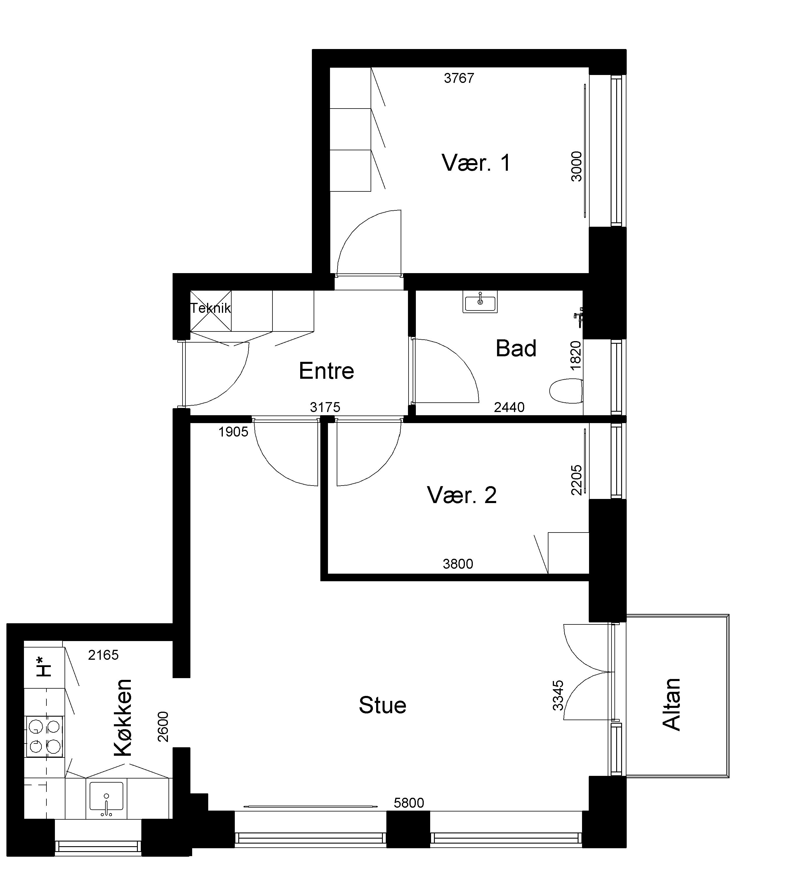 Lejlighed 143